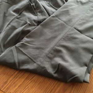 Haggar dark cuffed dress pants 40 x 30